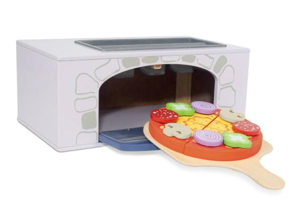 Puinen pizzapuuni ja lisätarvikkeet UP-229842