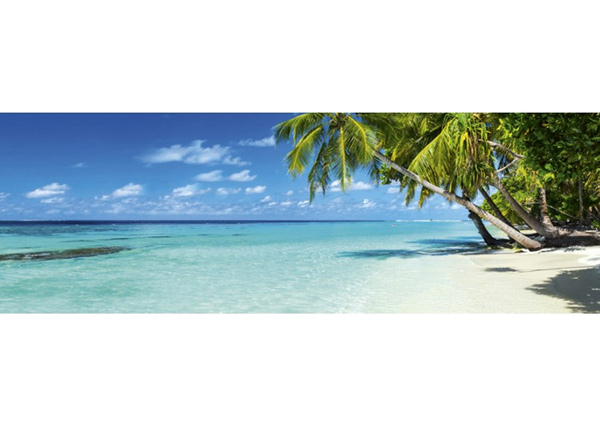 Köögi töötasapinna tagune Paradise beach