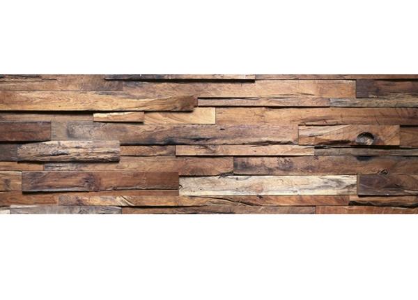 Köögi töötasapinna tagune Wooden wall
