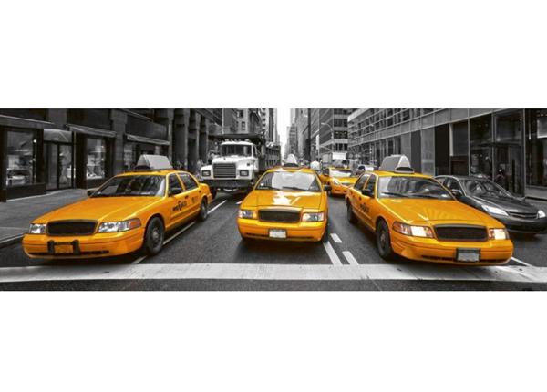 Köögi töötasapinna tagune Yellow taxi