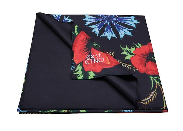 Полотенце из микрофибры с вышивкой Muhu 80x150 см, черного цвета