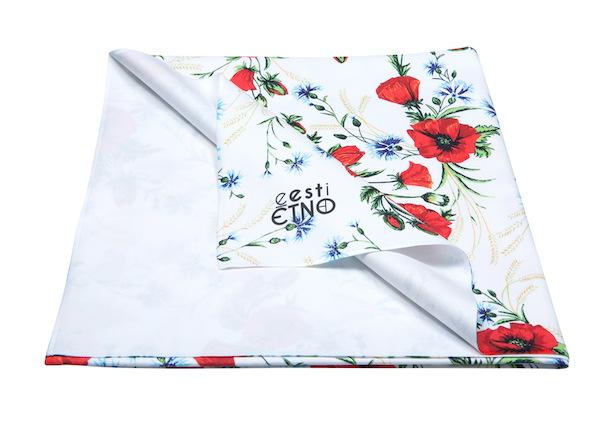 Полотенце из микрофибры с вышивкой Muhu 80x150 см, белого цвета