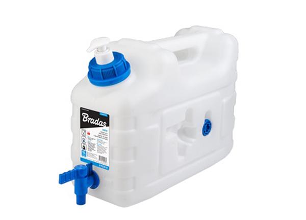 Veekanister kraani- ja seebidosaatoriga Bradas