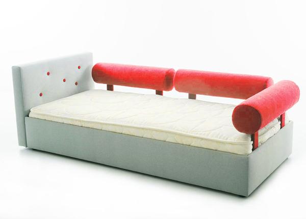 Funnest детская кровать Nest 70x155 cm + 3 рулонные подушки