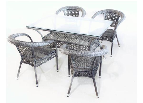 Puutarhapöytä + 4 tuolia Anguilla