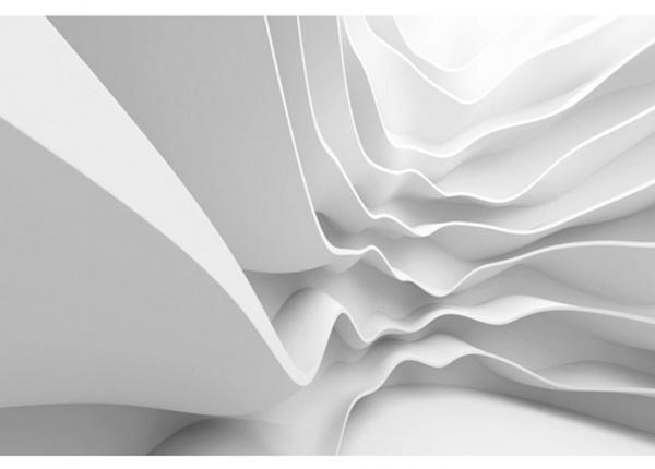 Fleece-kuvatapetti Futuristic wave