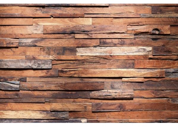 Fleece-kuvatapetti Wooden wall