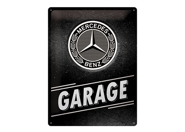 Retro metallposter Mercedes-Benz - Garage 30x40 cm SG-234978