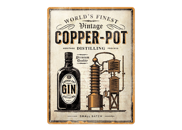Retro metallposter Copper Pot Gin 30x40 cm SG-234986