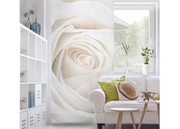 Paneeliverho Pretty White Rose 250x120 cm