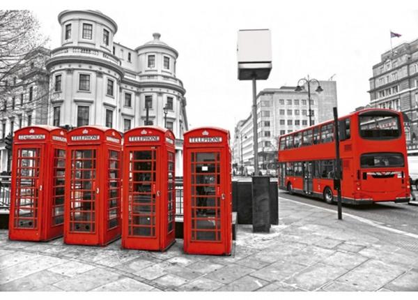Fleece-kuvatapetti London