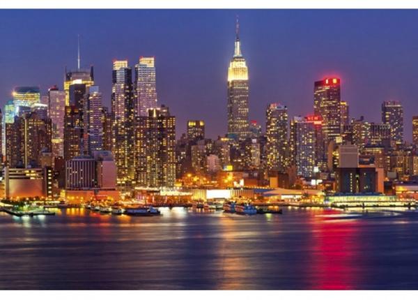Fleece-kuvatapetti Manhattan at night