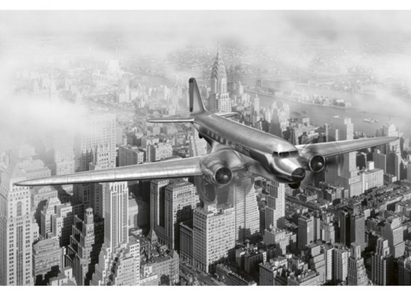 Fleece-kuvatapetti Airplane