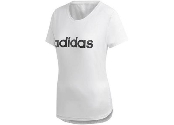 Naiste treeningsärk adidas W D2M Logo Tee W DU2080