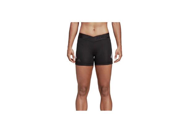 Naisten leggingsit adidas Alphaskin Sport W 3-Stripes Short W DQ3553