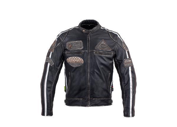 Miesten nahkainen moottoripyörätakki W-TEC Sheawen Vintage
