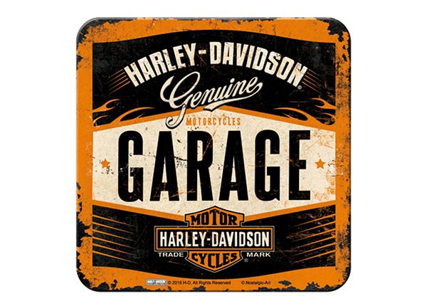 Retro lasinalusta Harley-Davidson Garage 4 kpl