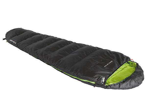 Makuupussi High Peak Black Arrow, tummanharmaa/ vihreä