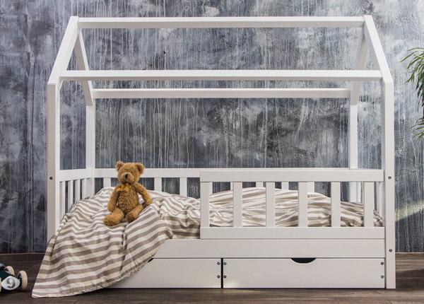Täispuidust lastevoodi 80x160 cm + sahtlid