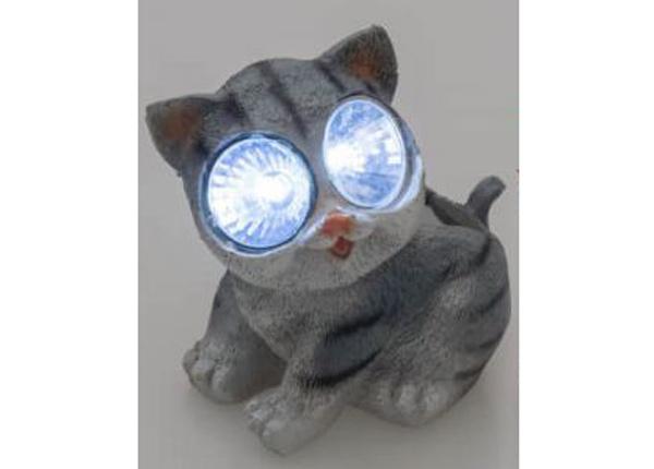 Solar valaisin Tarmo kissa harmaa