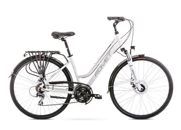 Naisten kaupunkipyörä 17 M GAZELA 4 valkoinen-musta