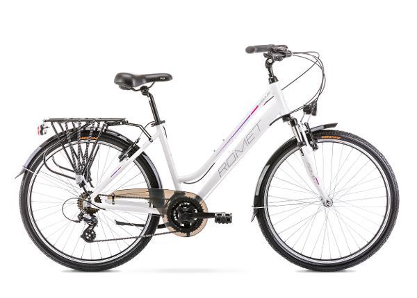 Naisten kaupunkipyörä 15 S GAZELA 26 1 valkoinen-vaaleanpunainen