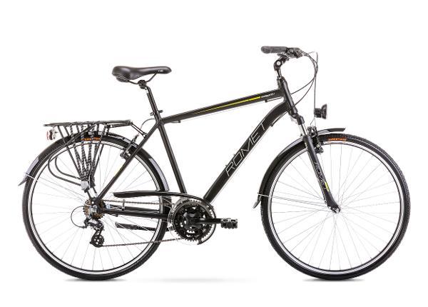 Miesten kaupunkipyörä 19 M WAGANT 1 musta-oranssi