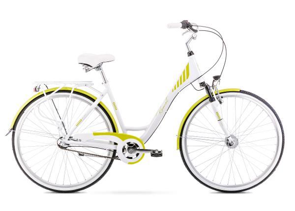 Naisten kaupunkipyörä 19 L ART DECO 3 valkoinen-vihreä