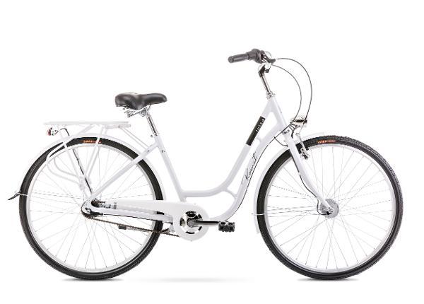 Naisten kaupunkipyörä 18 M LUIZA 7S valkoinen