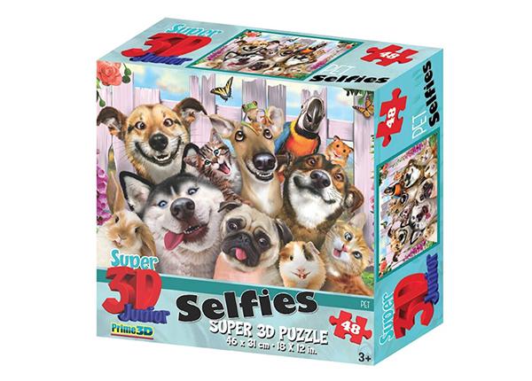 Palapeli 3D Lemmikkieläimet selfiessä 48 osaa