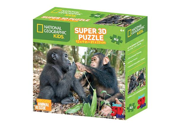 Palapeli 3D Simpanssi ja gorilla 63 osaa