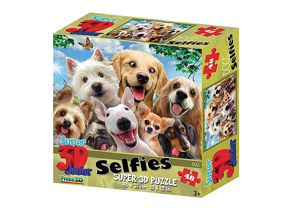 Palapeli 3D Koirat selfiessä 48 osaa