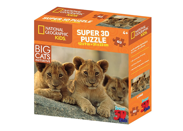 Palapeli 3D Afrikan leijonat 63 osaa