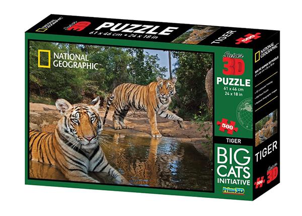 Palpeli 3D Tiikerit 500 osaa