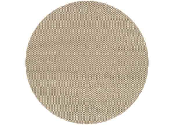 Narma sileäpintainen matto Bono, beige ja pyöreä Ø 160 cm