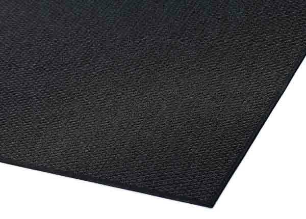 Narma sileäpintainen matto Bono, musta