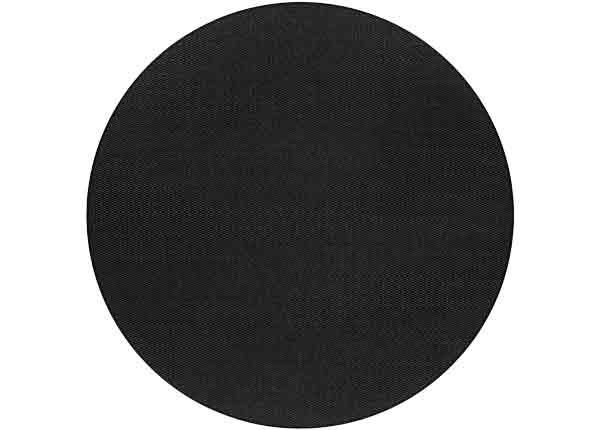 Narma sileäpintainen matto Bono, musta ja pyöreä Ø 160 cm