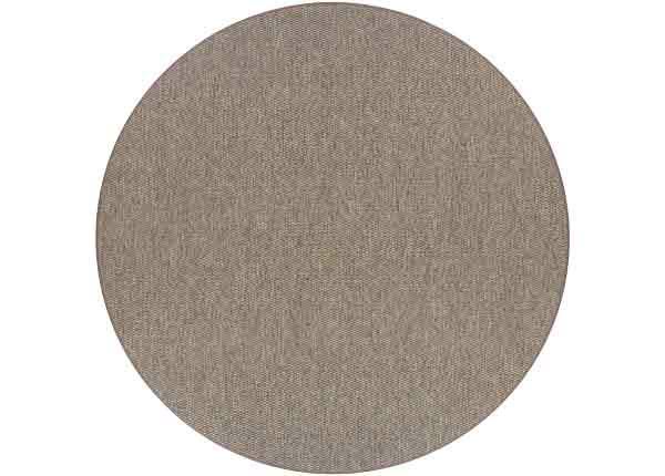 Narma sileäpintainen matto Bono, ruskea ja pyöreä Ø 160 cm