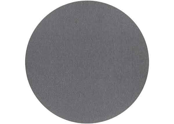 Narma sileäpintainen matto Bono, hiilenharmaa ja pyöreä Ø 160 cm