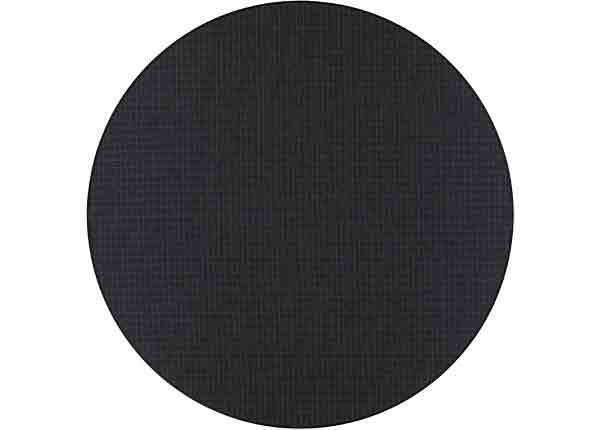 Narma sileäpintainen Limo, musta ja pyöreä Ø 160 cm