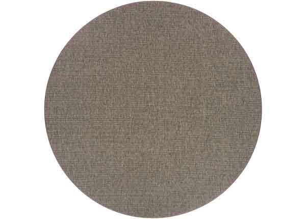 Narma sileäpintainen Credo, ruskea ja pyöreä Ø 160 cm