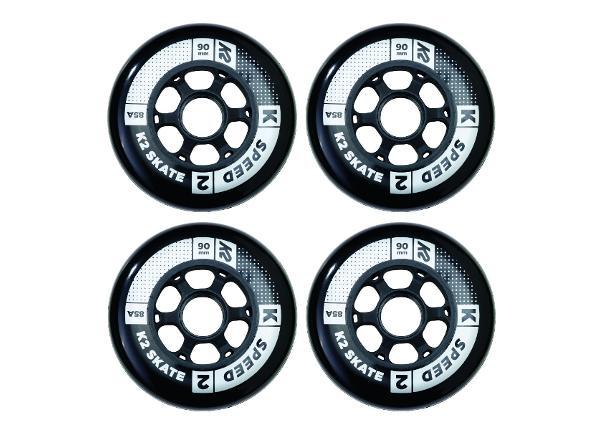 Rullaluistimen renkaat K2 Speed 90 mm 4 kpl