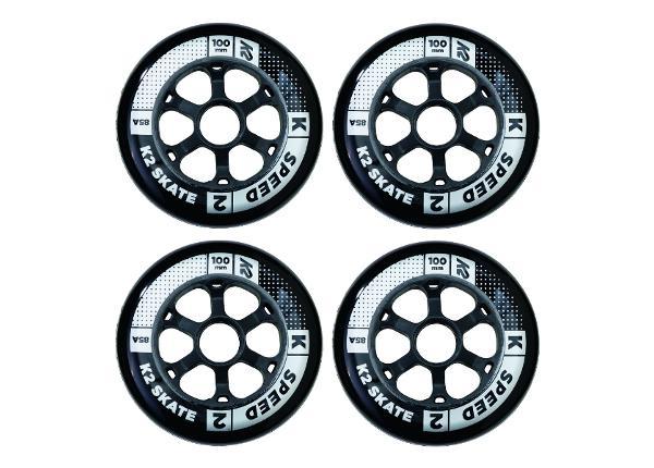 Rullaluistimen renkaat K2 Speed 100 mm 4 kpl