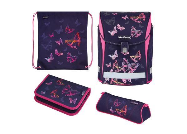 Koulu- ja selkäreppu Midi Plus Rainbow Butterfly BB-251688