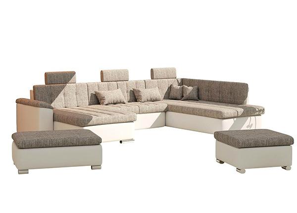 Угловой диван-кровать Presto Bis + 2 пуфа