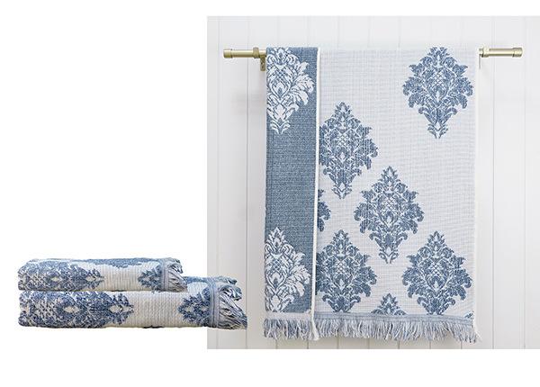 Froteepyyhesetti Versailles, sininen 2 kpl