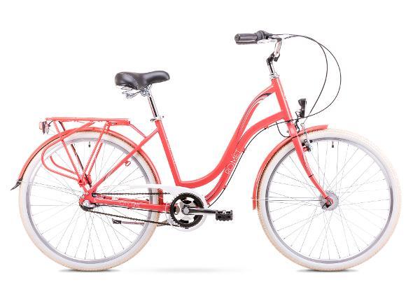 Naiste linnajalgratas 17 M Rower ROMET POP ART 26 roosa