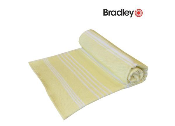 Froteepyyhe - rantapyyhe 90x170 sileä/frotee raidallinen keltainen