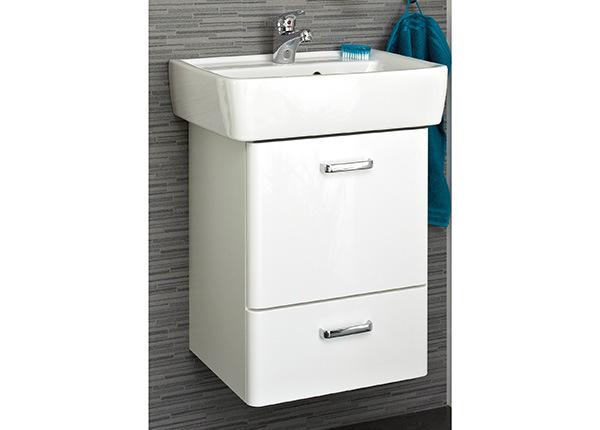 Kylpyhuoneen allaskaappi keraamisella pesualtaalla Piolo