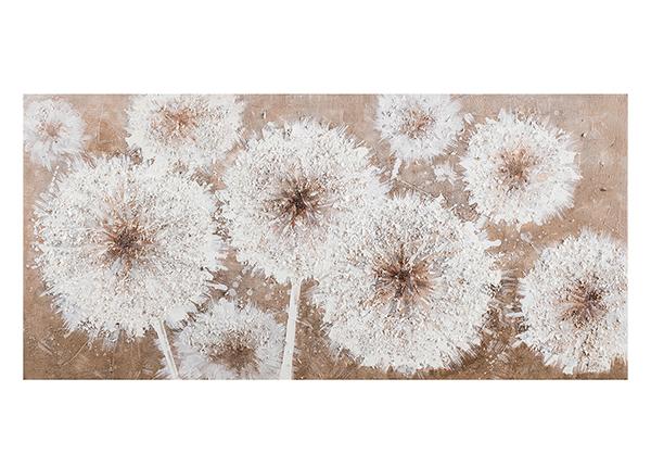 Масляная картина Одуванчики 46х96 см